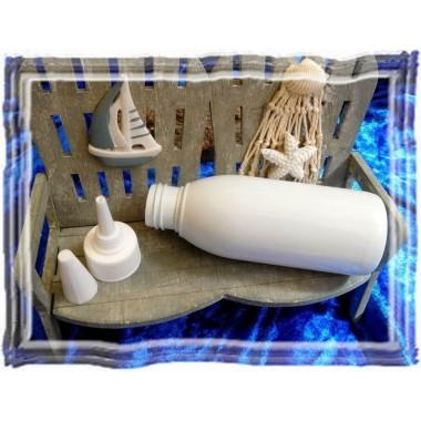 Leere Kosmetikflasche aus Recycling PET 100 ml
