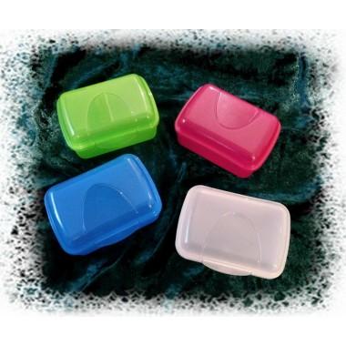 Seifendosen in verschiedenen Farben